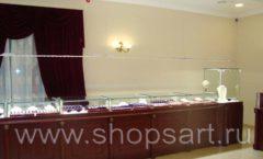Торговое оборудование для ювелирного магазина Октябрь VIP зал КОРИЧНЕВАЯ КЛАССИКА Фото 22