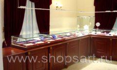 Торговое оборудование для ювелирного магазина Октябрь VIP зал КОРИЧНЕВАЯ КЛАССИКА Фото 23