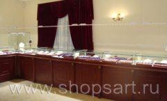 Торговое оборудование для ювелирного магазина Октябрь VIP зал КОРИЧНЕВАЯ КЛАССИКА Фото 24