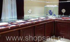 Торговое оборудование для ювелирного магазина Октябрь VIP зал КОРИЧНЕВАЯ КЛАССИКА Фото 25