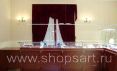 Торговое оборудование для ювелирного магазина Октябрь VIP зал КОРИЧНЕВАЯ КЛАССИКА Фото 26