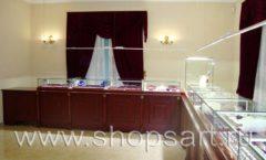 Торговое оборудование для ювелирного магазина Октябрь VIP зал КОРИЧНЕВАЯ КЛАССИКА Фото 27