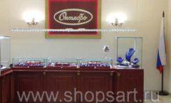 Торговое оборудование для ювелирного магазина Октябрь VIP зал КОРИЧНЕВАЯ КЛАССИКА Фото 32