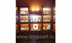 Торговое оборудование для ювелирного магазина Октябрь Зал часов КОРИЧНЕВАЯ КЛАССИКА Фото 47