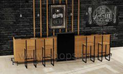 Комплект барная стойка высокие стулья мебель для кафе баров ресторанов Лофт