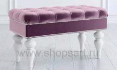 Банкетка Сарагоза розовая для магазина обуви