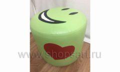 Пуфик Смайлик зеленый для детского магазина