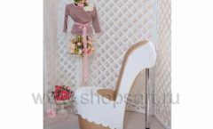 Пуф Туфелька белая для бутика одежды