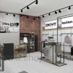 Торговое оборудование для магазина одежды ЛОФТ
