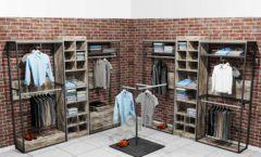 Торговое оборудование для магазинов одежды ЛОФТ