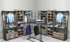 Торговая мебель для магазинов одежды ЛОФТ