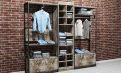 Блок торговых стеллажей для одежды накопитель торговое оборудование ЛОФТ