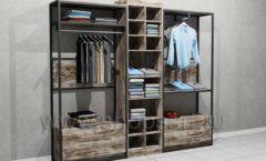 Блок пристенных стеллажей для одежды накопитель торговое оборудование ЛОФТ