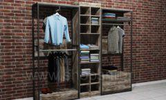Блок торговых стеллажей для одежды подиум торговое оборудование ЛОФТ
