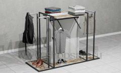 Стойка островная для навески выкладки одежды универсальная торговое оборудование ЛОФТ