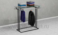 Стойка островная для навески и выкладки одежды торговое оборудование ЛОФТ