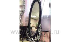 Зеркало Леопольда черная рама для магазина