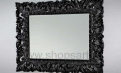 Зеркало Ферари горизонтальная черная рама для магазина