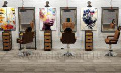 Дизайн интерьера для салонов красоты парикмахерских барбершопов мебель ЛОФТ Дизайн 01