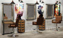 Дизайн интерьера для салонов красоты парикмахерских барбершопов мебель ЛОФТ Дизайн 02