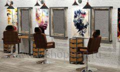 Дизайн интерьера для салонов красоты парикмахерских барбершопов мебель ЛОФТ Дизайн 03