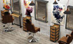 Дизайн интерьера для салонов красоты парикмахерских барбершопов мебель ЛОФТ Дизайн 04