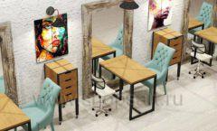 Дизайн интерьера для салонов красоты парикмахерских барбершопов мебель ЛОФТ Дизайн 13