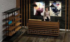 Дизайн интерьера 2 для салонов красоты парикмахерских барбершопов мебель ЛОФТ Дизайн 2