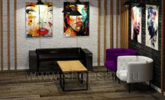 Дизайн интерьера 2 для салонов красоты парикмахерских барбершопов мебель ЛОФТ Дизайн 9