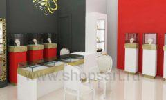 Дизайн интерьера ювелирного магазина торговое оборудование СОВРЕМЕННЫЙ СТИЛЬ Дизайн 01
