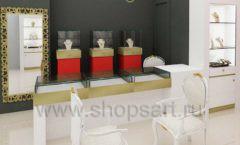 Дизайн интерьера ювелирного магазина торговое оборудование СОВРЕМЕННЫЙ СТИЛЬ Дизайн 02
