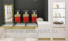 Дизайн интерьера ювелирного магазина торговое оборудование СОВРЕМЕННЫЙ СТИЛЬ Дизайн 03