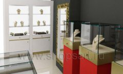 Дизайн интерьера ювелирного магазина торговое оборудование СОВРЕМЕННЫЙ СТИЛЬ Дизайн 05