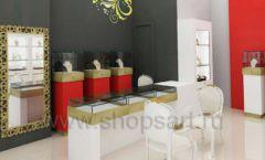 Дизайн интерьера ювелирного магазина торговое оборудование СОВРЕМЕННЫЙ СТИЛЬ Дизайн 06