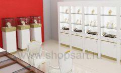 Дизайн интерьера ювелирного магазина торговое оборудование СОВРЕМЕННЫЙ СТИЛЬ Дизайн 07