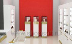 Дизайн интерьера ювелирного магазина торговое оборудование СОВРЕМЕННЫЙ СТИЛЬ Дизайн 08