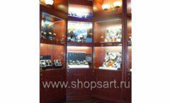 Торговое оборудование для ювелирного магазина Октябрь Зал часов Москва КОРИЧНЕВАЯ КЛАССИКА Фото 09