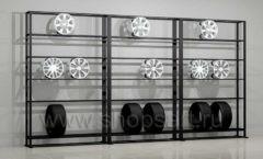 Стеллаж для колес мебель для автосалона автотоваров автозапчастей