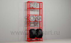 Стеллаж для хранения колес мебель для автосалона автотоваров автозапчастей