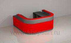 Ресепшн для автосалона радиусный мебель для автосалона автотоваров автозапчастей