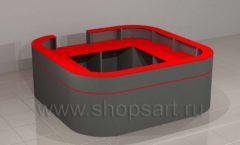 Ресепшн для автосалона радиусный круговой мебель для автосалона автотоваров автозапчастей