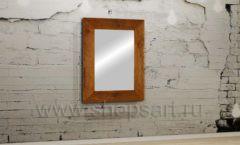 Зеркало в деревянной раме мебель для салонов красоты парикмахерских барбершопов Лофт