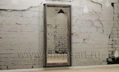 Напольное зеркало в металлическом каркасе мебель для салонов красоты парикмахерских барбершопов Лофт