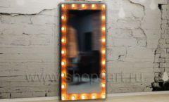 Гримерное напольное зеркало мебель для салонов красоты парикмахерских барбершопов Лофт