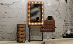 Комплект мебели для салона красоты с гримерным зеркалом мебель для салонов красоты парикмахерских барбершопов Лофт