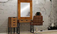 Комплект мебели для барбершопа мебель для салонов красоты парикмахерских барбершопов Лофт