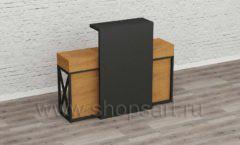 Стол администратора барбершопа мебель для салонов красоты парикмахерских барбершопов Лофт
