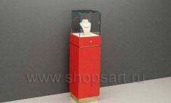 Витрина стеклянная куб торговое оборудование СОВРЕМЕННЫЙ СТИЛЬ