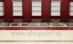 Дизайн интерьера ювелирного магазина РУЗАЮВЕЛИР коллекция ЭТАЛОН Дизайн 10