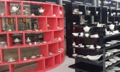 Торговое оборудование магазина посуды Фарфор Стекло Керамика ДОМИНО Фото 01